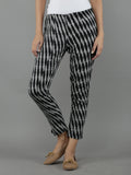 Black Grey Cotton Ikat Pants