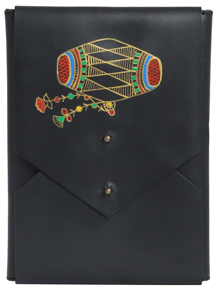 Black Leather Dhol iPad Mini Sleeve