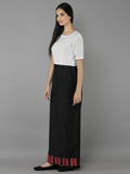 Black White Cotton Silk Maxi