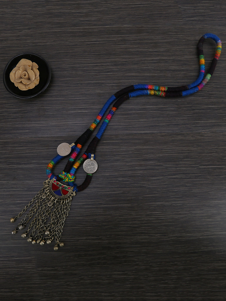 Multi Color Chord Necklace