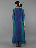 Blue Purple Chanderi Suit - Set of 4