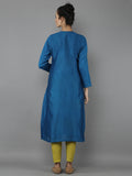 Blue Chanderi Kurta