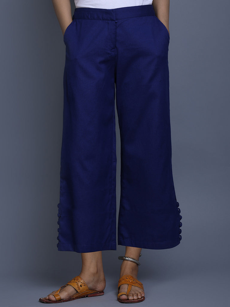 Blue Khadi Pants