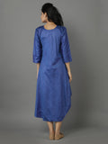 Blue Silk Asymmetrical Tunic