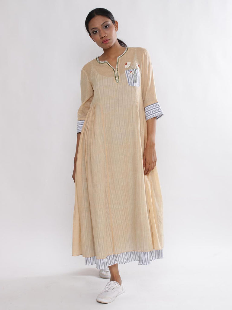 Blush Cotton Jasmine Peshi Tunic