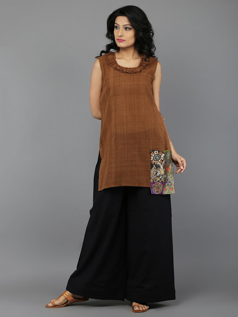 Brown Khadi Tunic