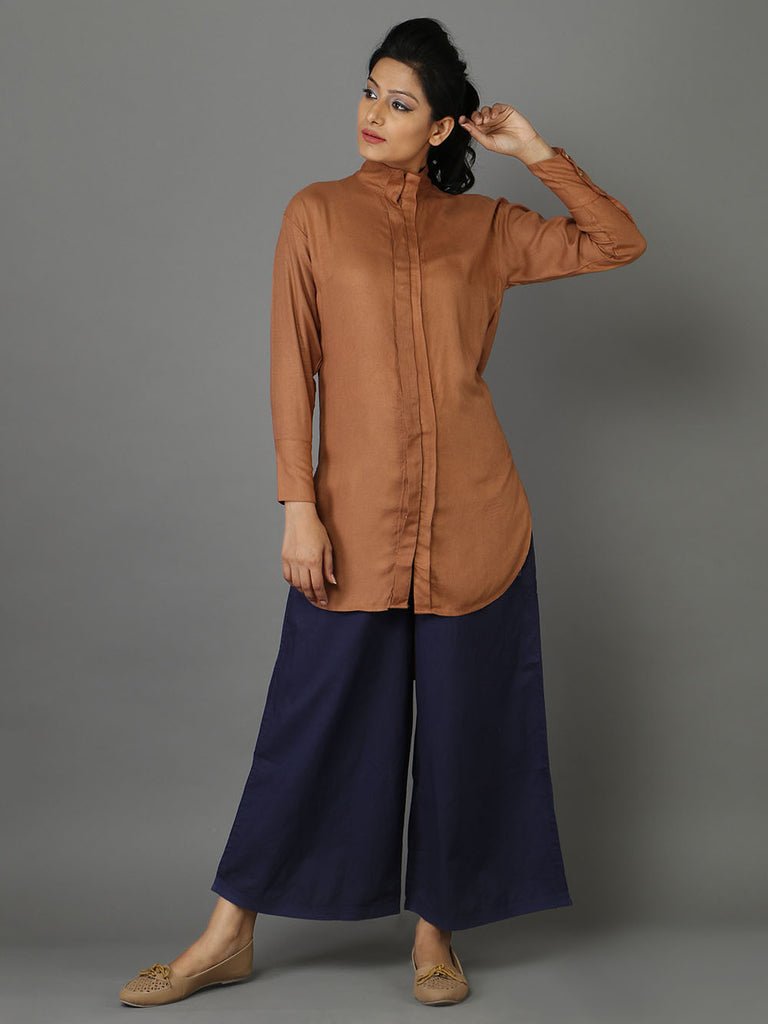 Brown Rayon Moss Shirt