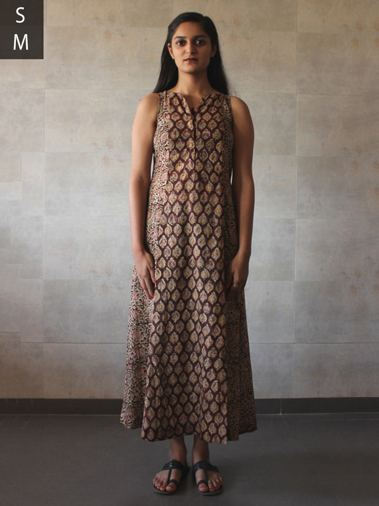 Brown Cotton Mul Kalamkari Tunic