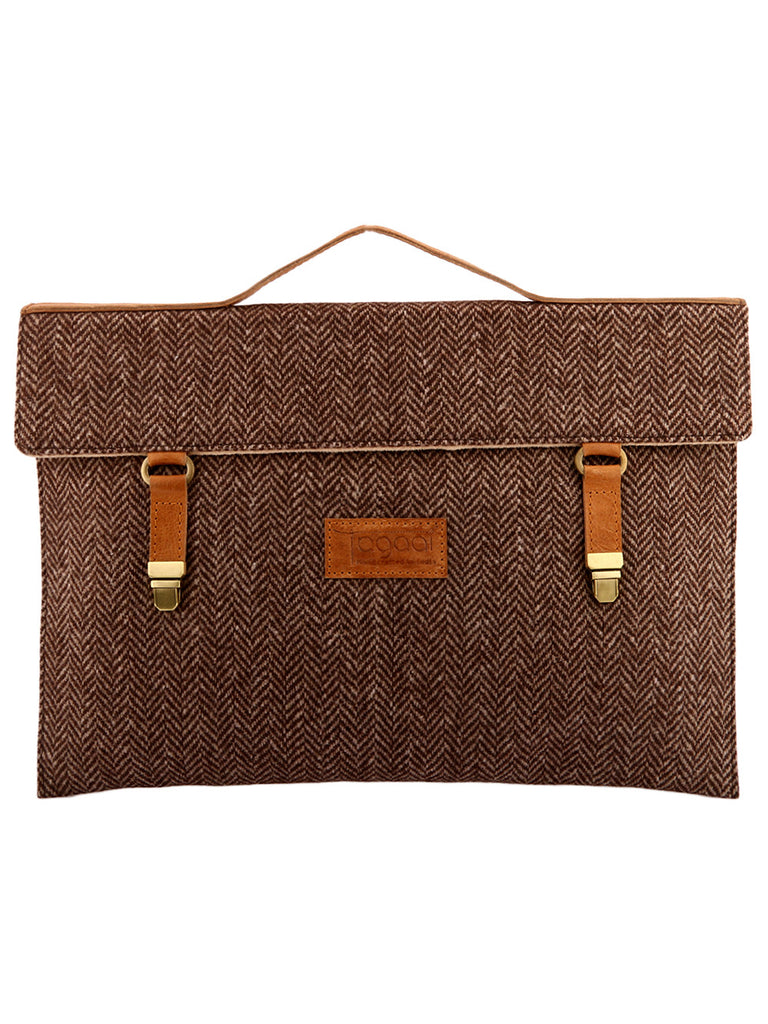 Brown Herringbone Laptop/Mac Sleeve