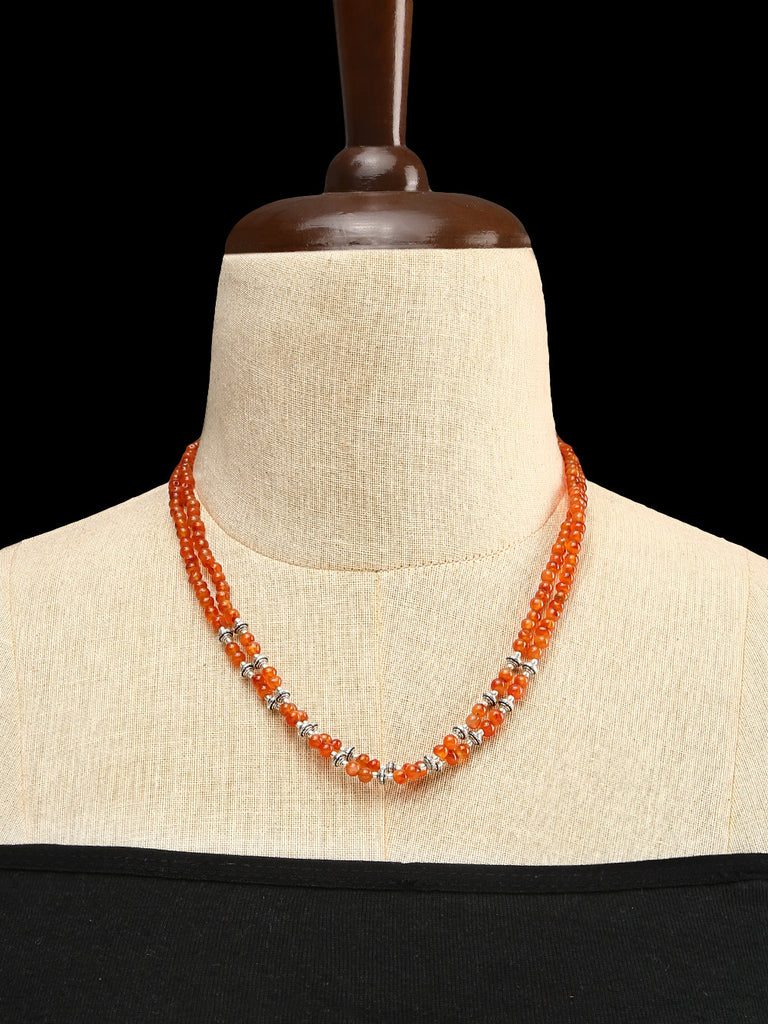 Carnelian with GS Beads Double Strand Necklace