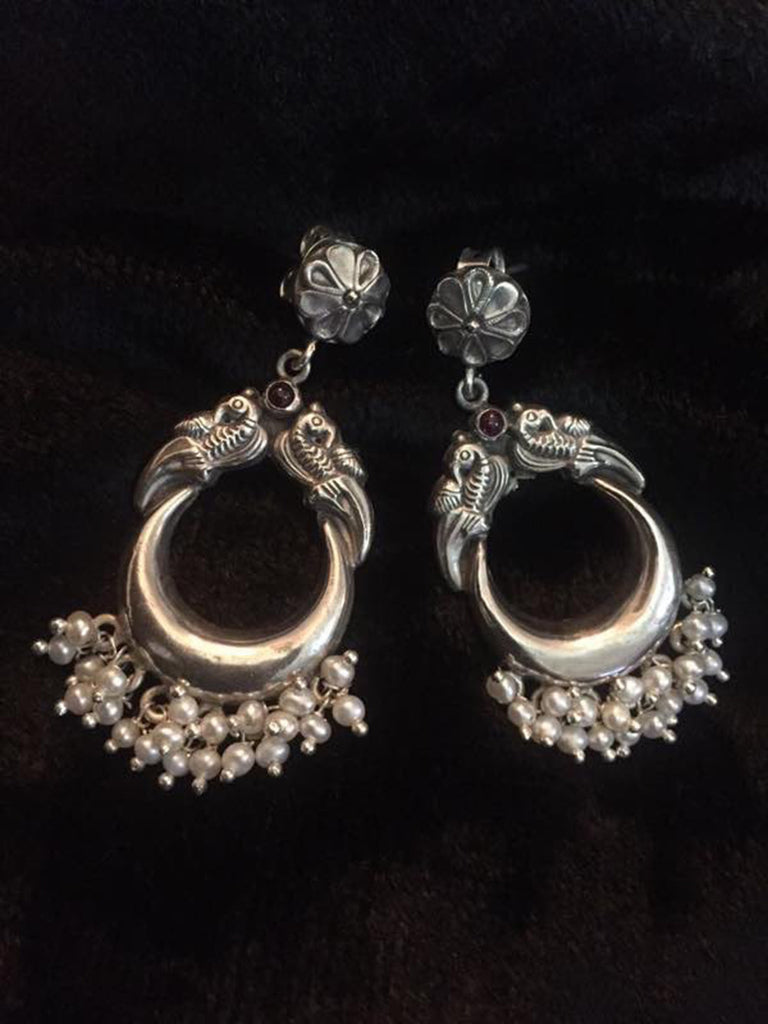 Chand Pearl Silver Earrings