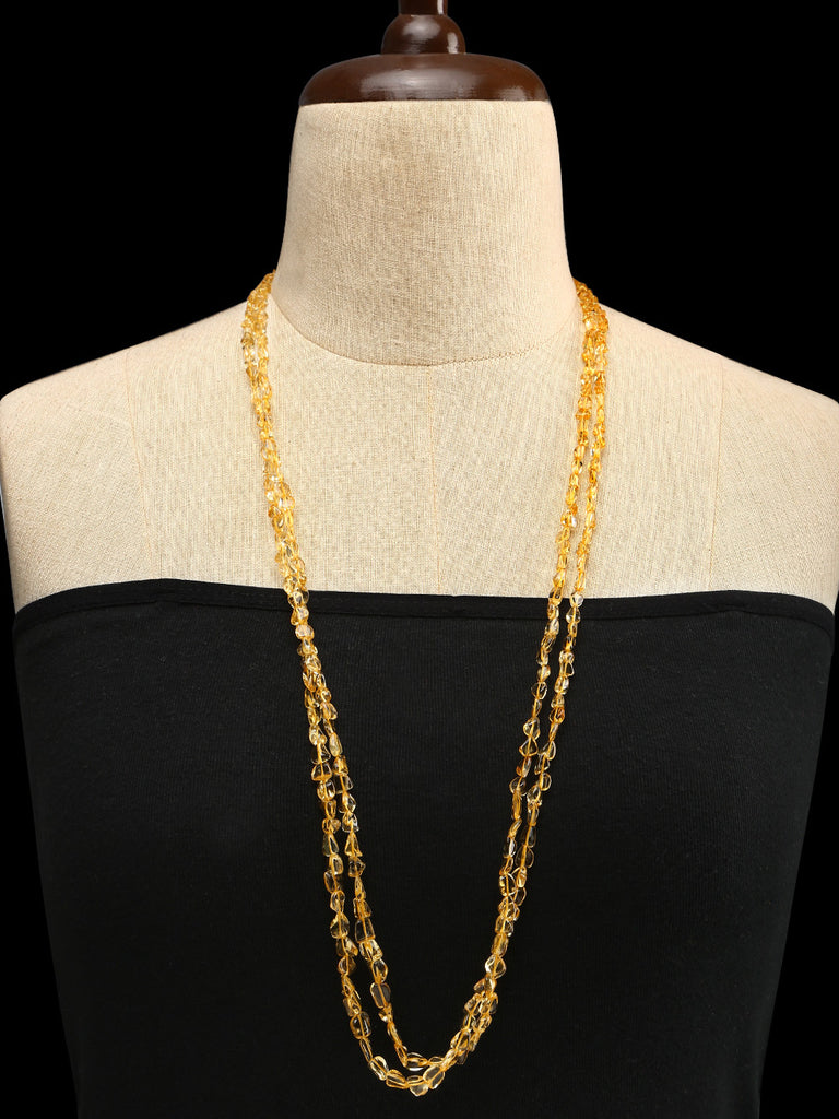 Citrine Double Strand Handrcated Necklace