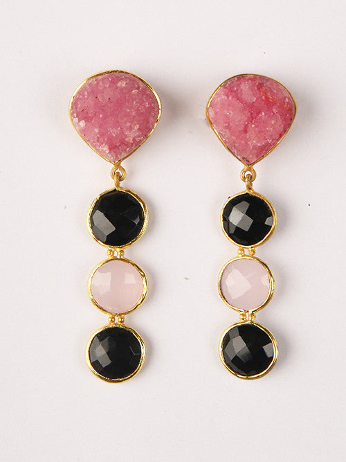 Druzy Quartz Drop Earrings