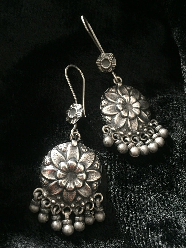 Flower Silver Hangings