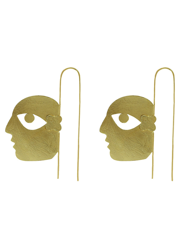 Gold Plated Bobo Earrings
