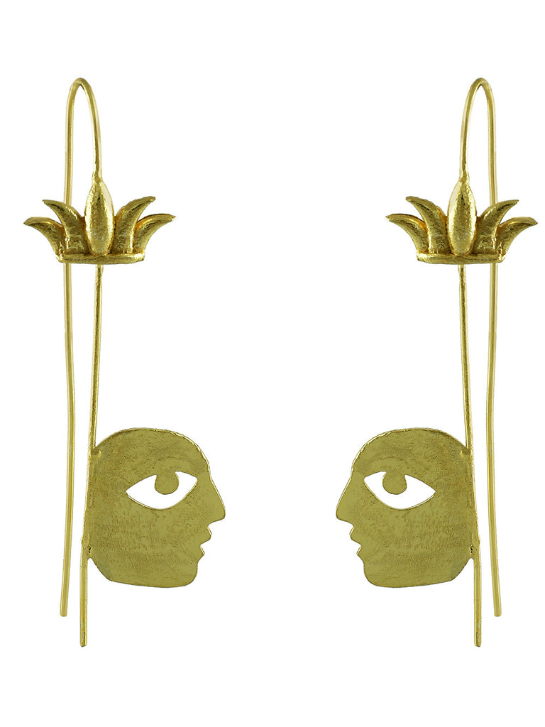 Gold Plated Bobo Tropical Earrings