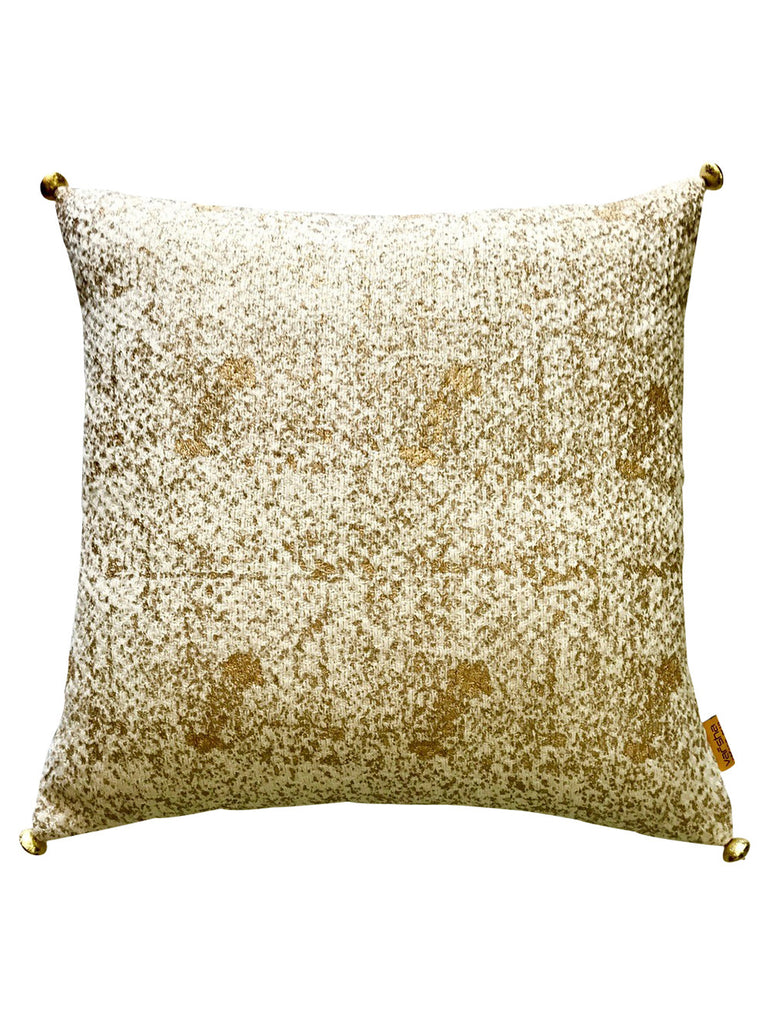 Golden Brilliance Weave Cushion Cover