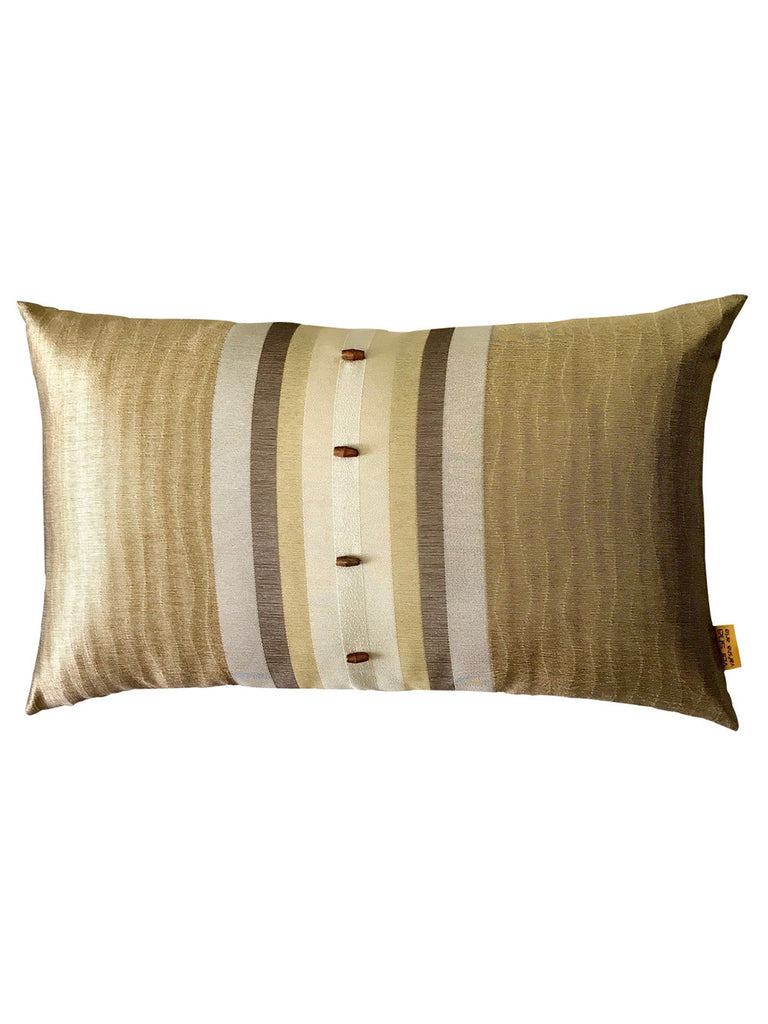 Golden Wood Jacquard Cushion Cover