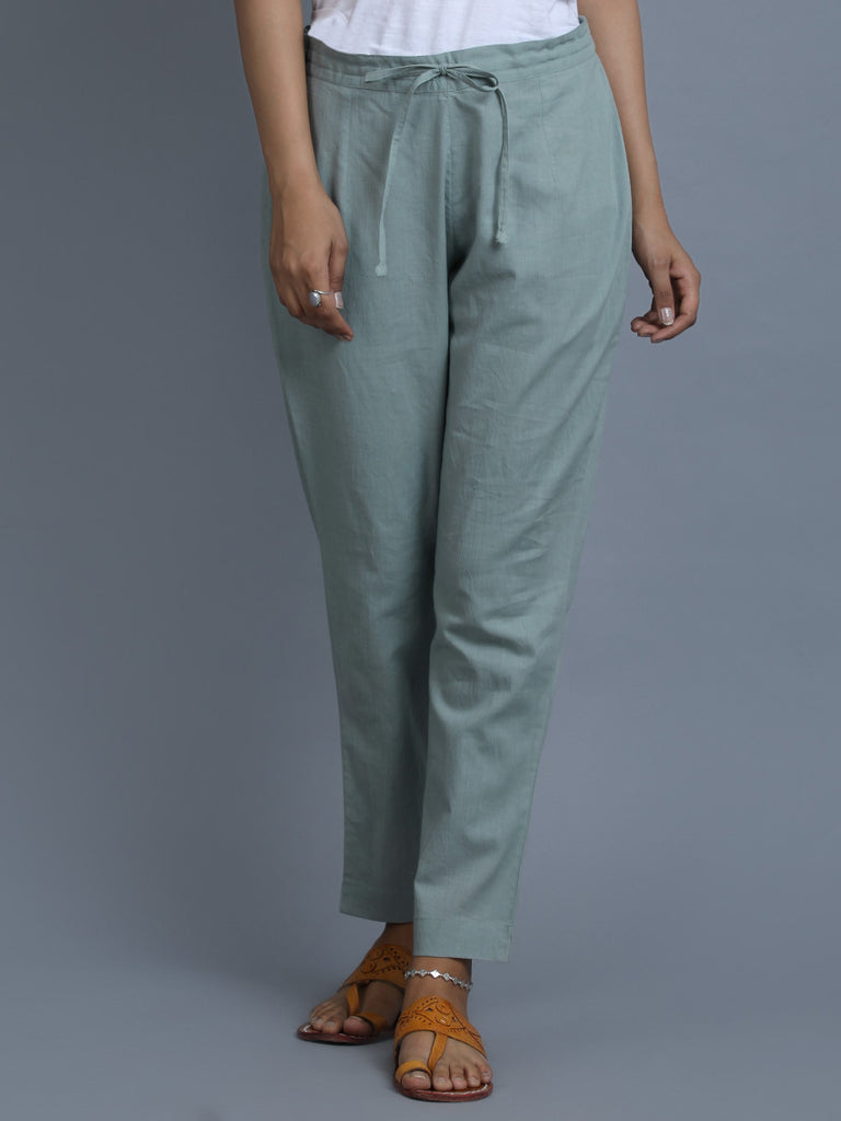 Sea Green Cotton Pants