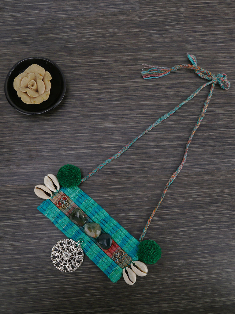 Green Hand Weaved Necklace