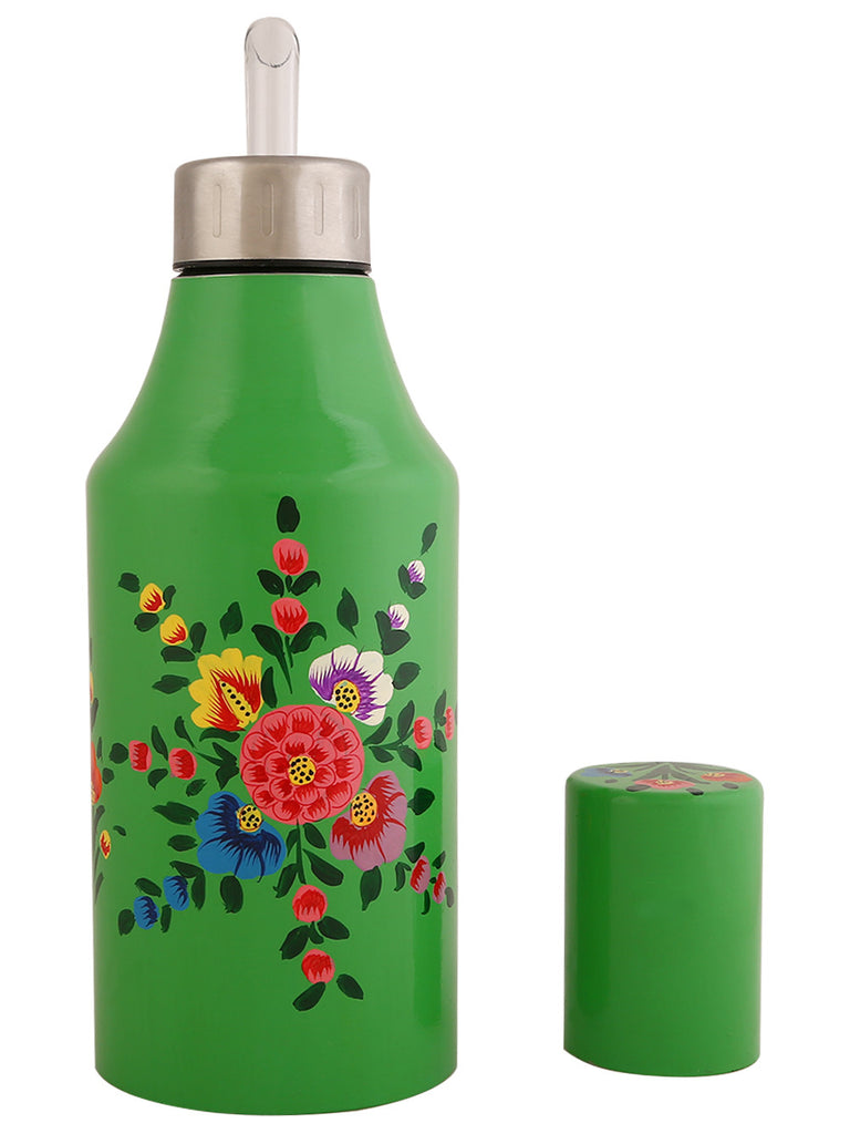 Green Hand Painted Steel Oil Dispenser