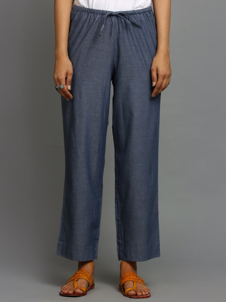 Slate Cotton Pants
