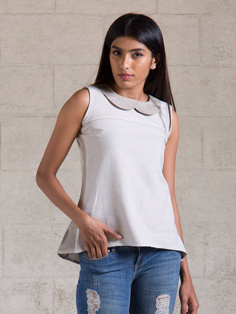 Grey Cotton Top