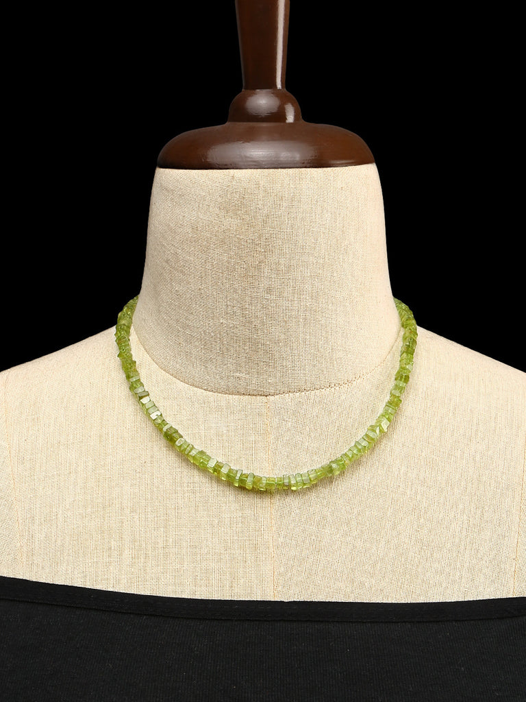 Peridot Single Strand Handcrafted Necklace