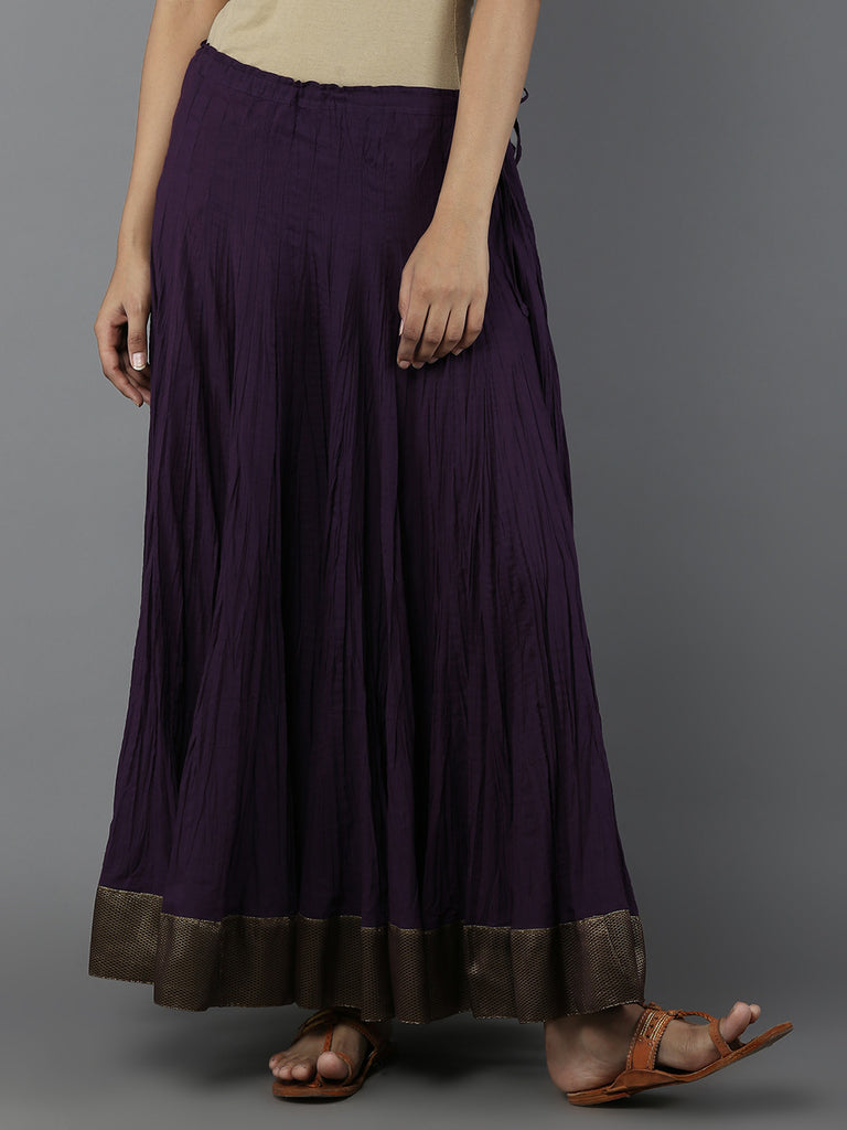 Purple Cambric Cotton Lehnga
