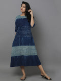 Indigo Blue Cotton Shift Dress
