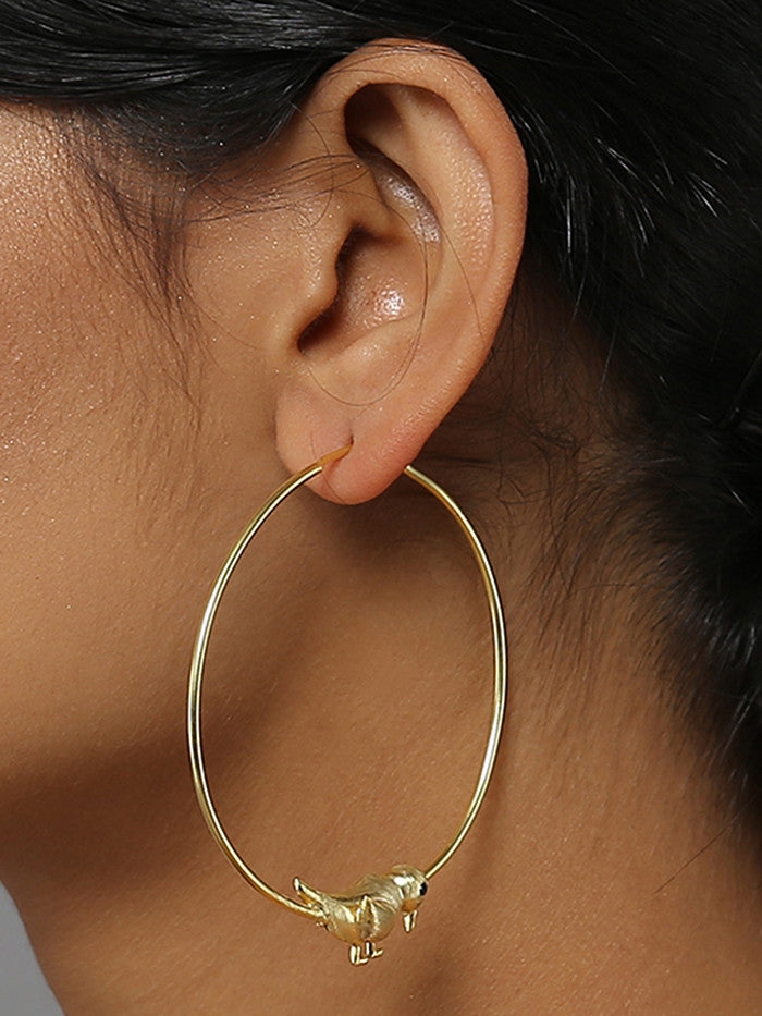 Keet Hoops Brass Earrings