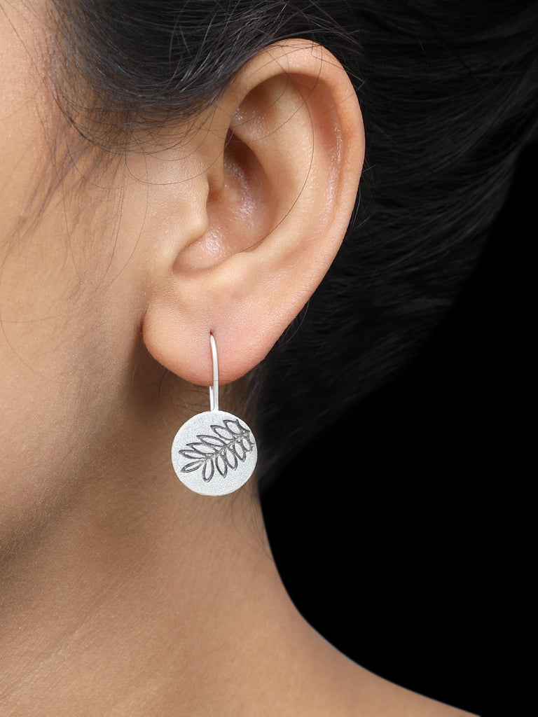 Leaf Handcrafted Silver Earrings