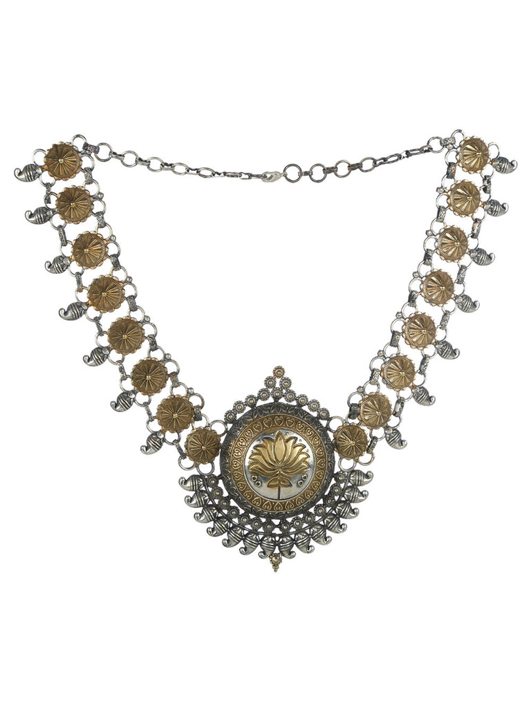 Lotus Dual Plated Necklace