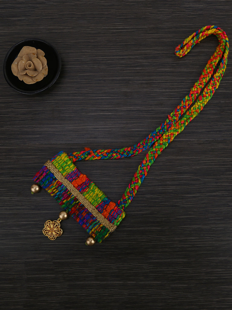 Multi Color Hand Weaved Boho Necklace