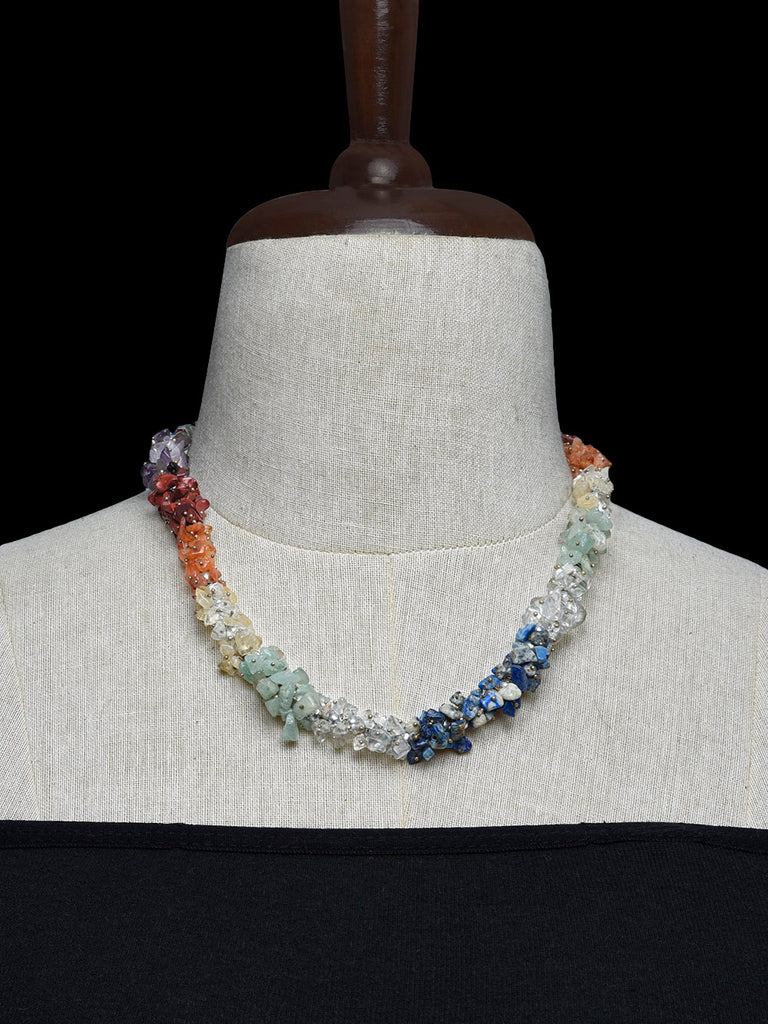 Multicolor Handcrafted Agate Stones Necklace