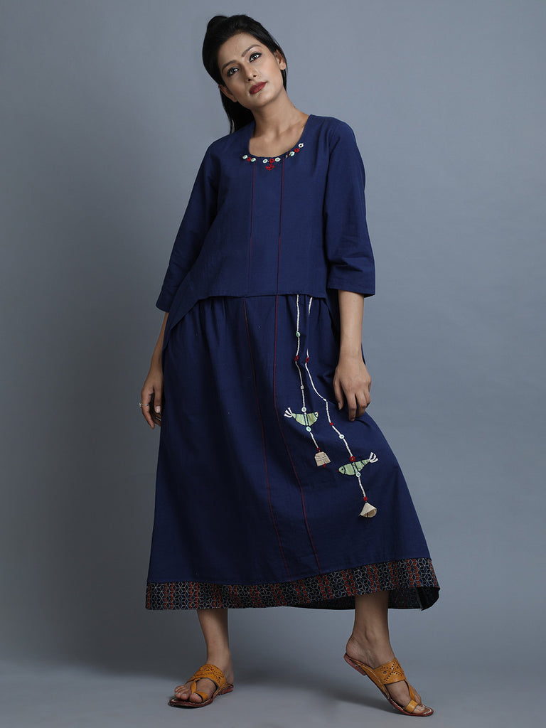 Navy Cotton Dress