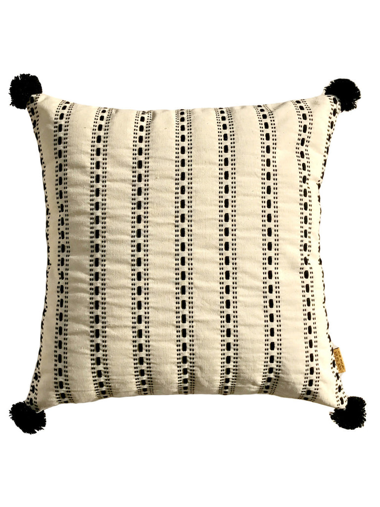 Off White Drizzle Texture Cotton Cushion Cover