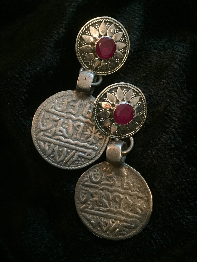 Old Coin Silver Earrings