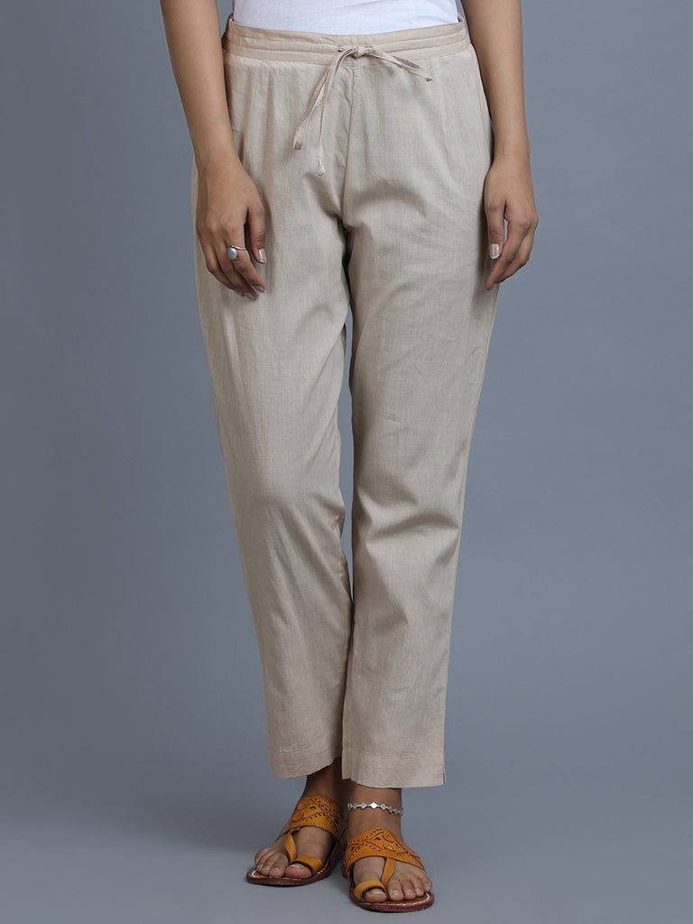Old Rose Cotton Pants