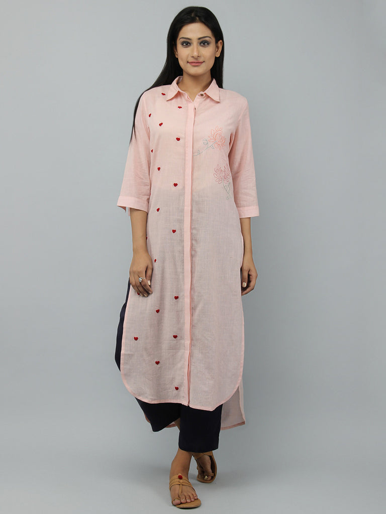 Old Rose Cotton Shirt Kurta