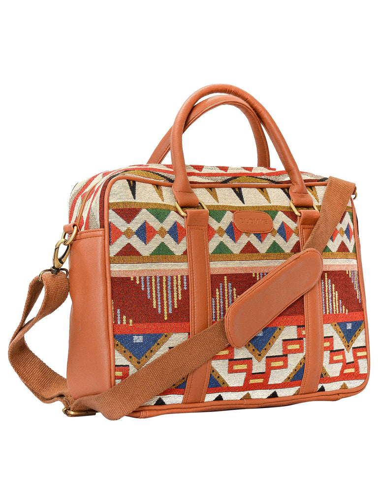 Orange Tan Leather Mexican Field Work Bag