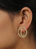 Orbit Studs Brass Earrings