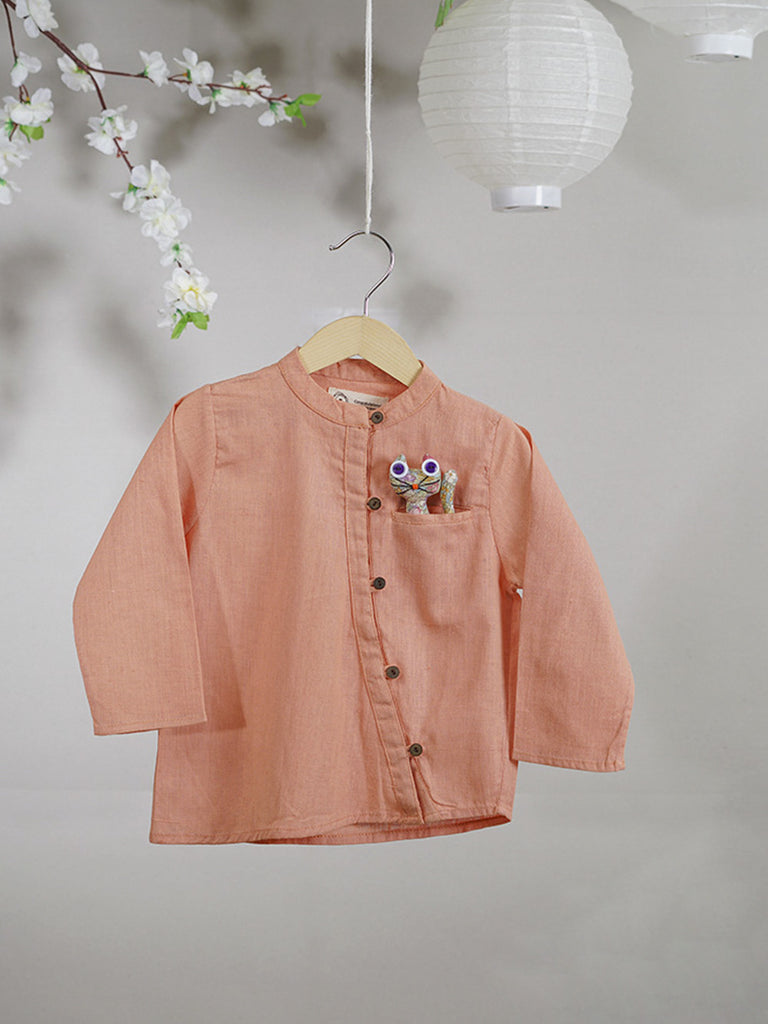 Peach Cotton Shirt