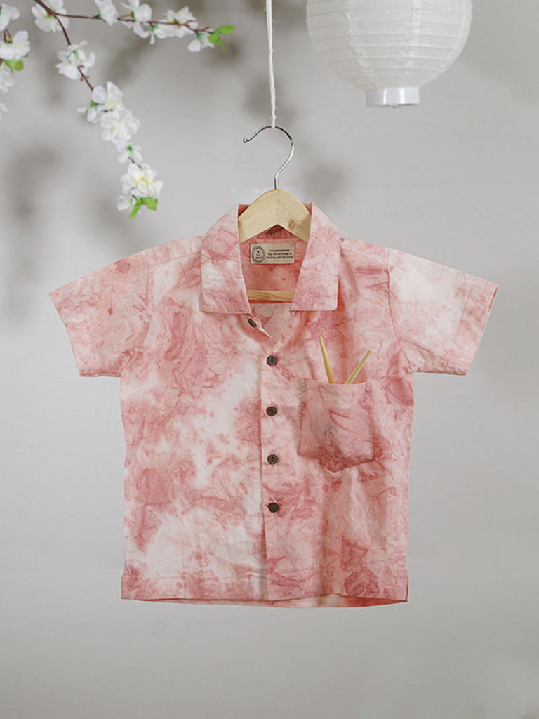 Pink Cotton Tie and Dye Shirt