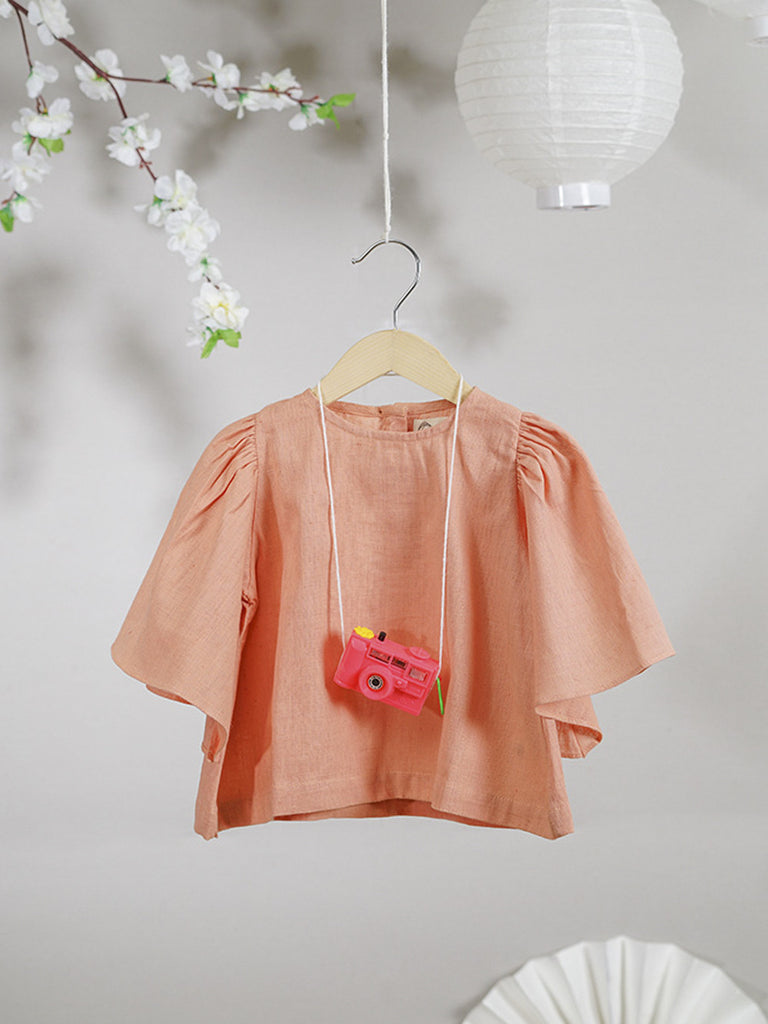 Peach Cotton Top