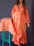 Peach Sharara Set - 3 Piece