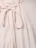 Dull Pink Cotton Long Dress