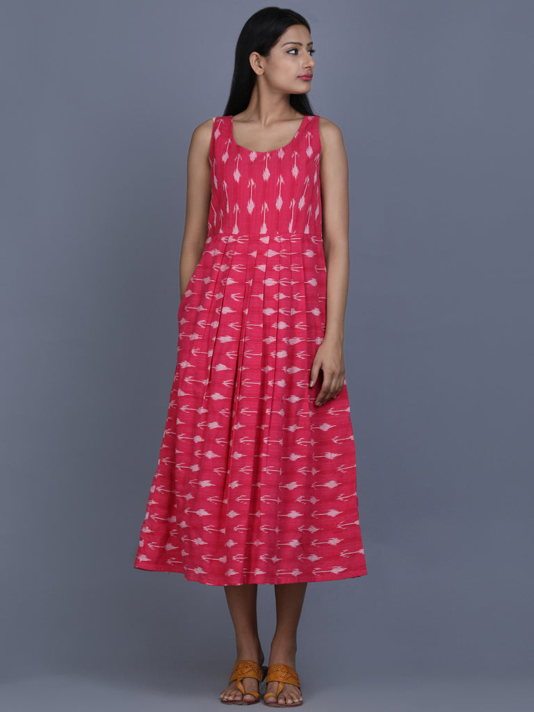 Pink Ikat Cotton Blossom Dress