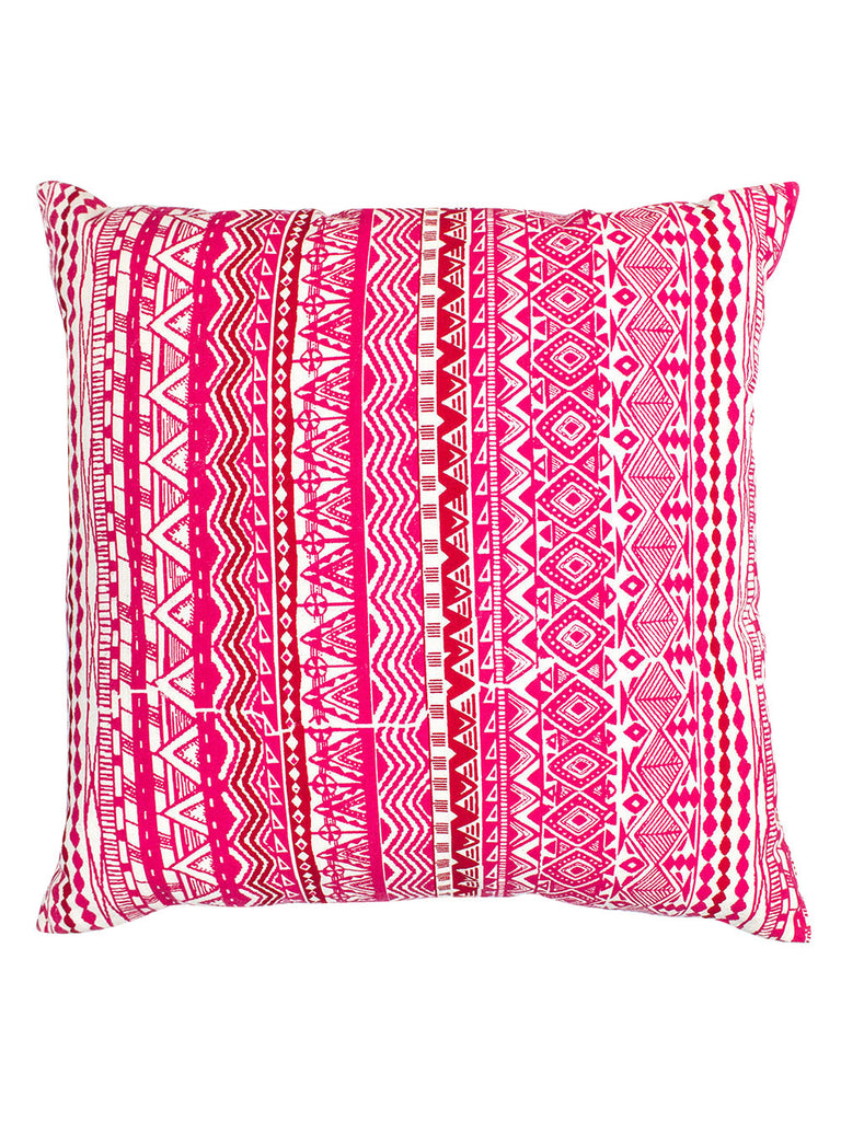Pink Red Shira Reversible Cotton Cushion Cover