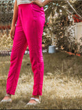 Pink Tussar Cotton Trousers